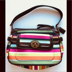 Coach Legacy Stripe Purse Small Handbag